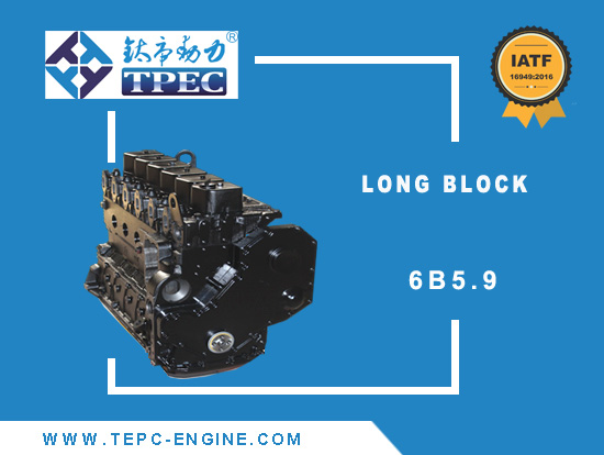 6B5.9 long cummnis long cylinder block tpec
